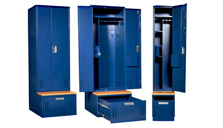 storage lockers and cabinets