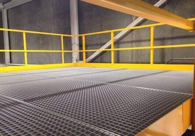 warehouse mezzanine railing