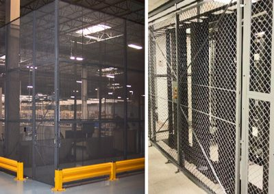Machine Guarding with Wire Partitions