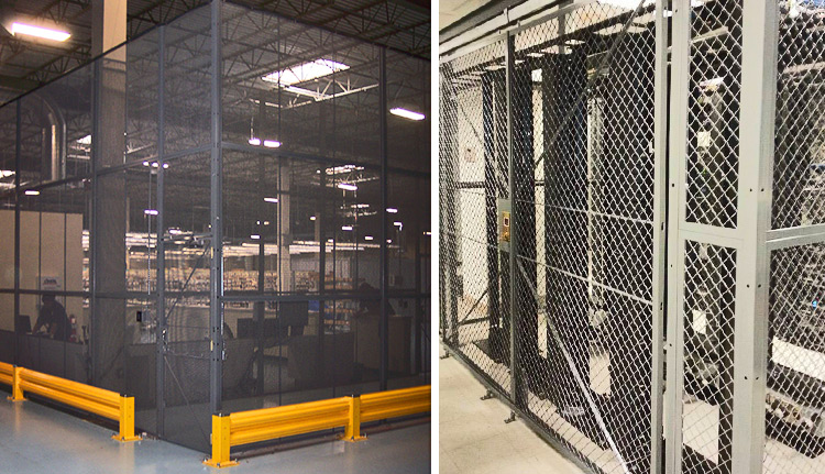 Machine Guarding - Wire Mesh Partitions for Safety & Security