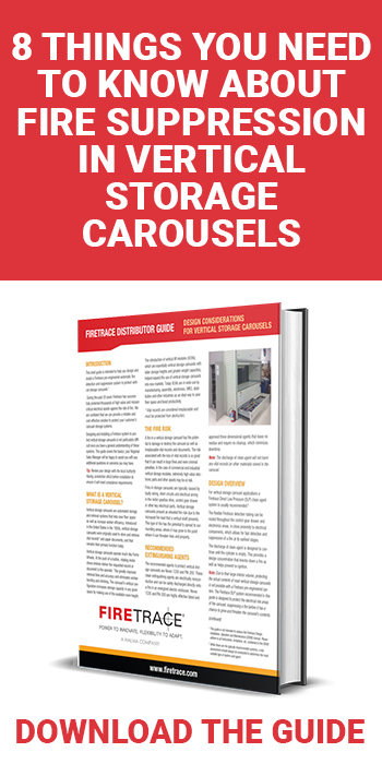 fire suppression in vertical storage carousels