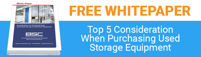 five considerations for purchasing used storage equipment