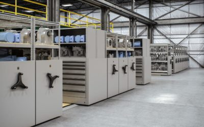 High Density Mobile Storage Systems for Industrial Applications